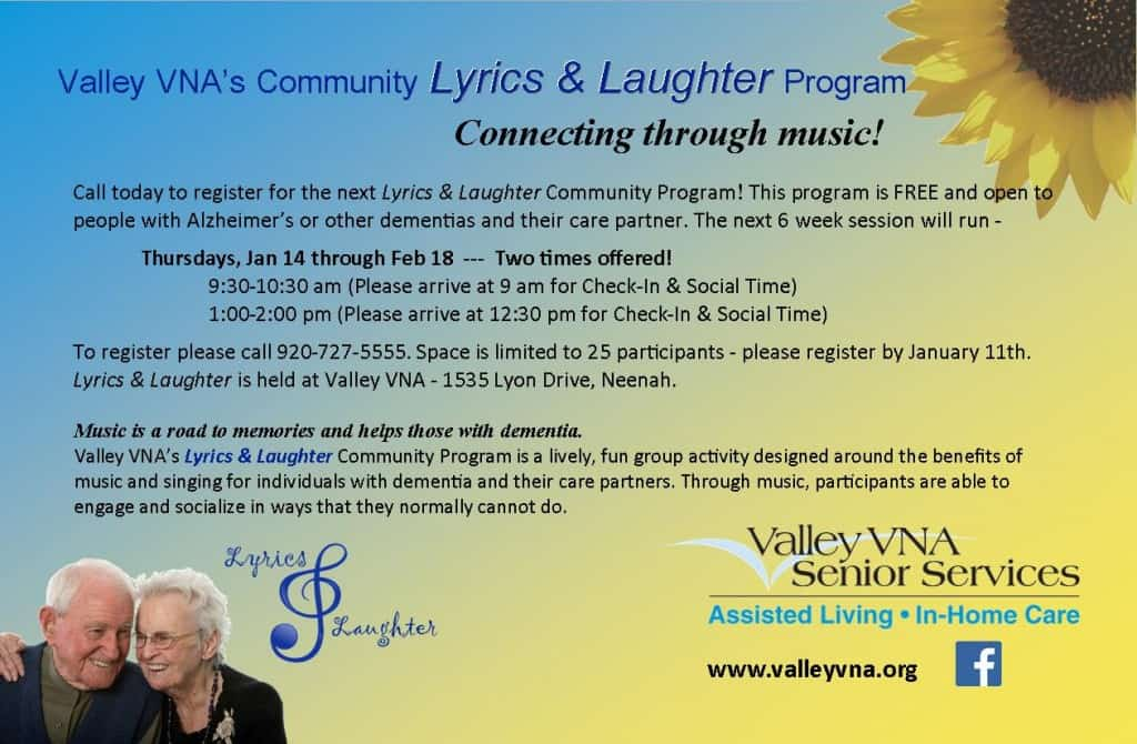Community Lyrics amp Laughter Valley VNA Senior Care
