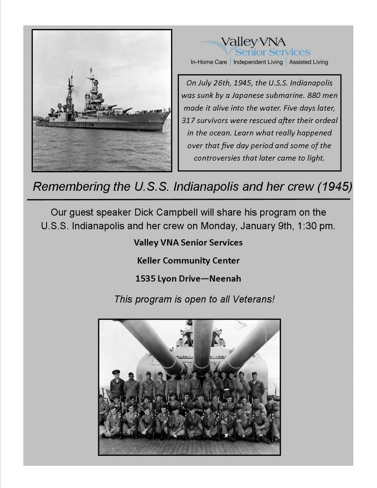 uss-indianapolis-crew-010917 - Valley VNA Senior Care